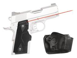 Crimson Trace Lasergrips 1911 Officer Front Activation Polymer Black with Gould & Goodrich Holster