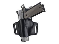 Bianchi 105 Minimalist Holster Left Hand Browning Hi-Power, 1911 Suede Lined Leather Black