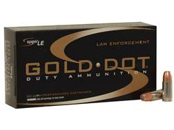 Speer LE Gold Dot Duty Ammunition 9mm Luger 124 Grain Jacketed Hollow Point Box of 50