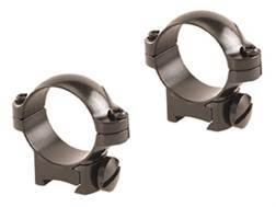 """Leupold 1"""" Ring Mounts Rimfire 13mm Grooved Receiver Gloss Low"""