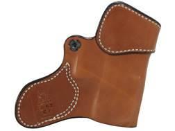 DeSantis Inner Piece Inside the Waistband Holster Left Hand Glock 26, 27, 33 Leather Tan