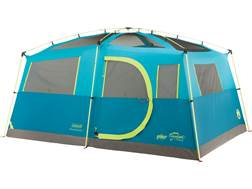 "Coleman Tenaya Lake Fast Pitch 8 Man Cabin Tent 156""x108""x80"" with Closet and Beverage Bin Polyester Blue, Green and White"