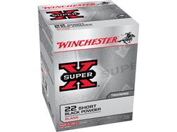 Winchester Super-X Ammunition 22 Short Black Powder Blank Box of 50