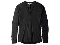 Mountain Khakis Men's Rendezvous Henley Shirt Long Sleeve Merino Wool Black XL 46-48