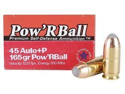 Glaser Pow'RBall Ammunition 45 ACP +P 165 Grain Box of 20