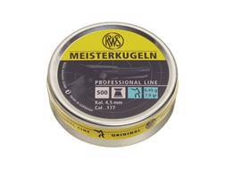 RWS Meisterkugeln Pistol Match Airgun Pellets 177 Caliber 7.0 Grain Flat Nose Tin of 500