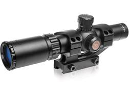TRUGLO Tru-Brite Rifle Scope 30mm Tube 1-4x 24mm Duplex Mil-Dot Reticle with Mount Matte