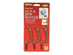 Allen Accessory Hanger Rubber Coated Steel Black Pack of 3