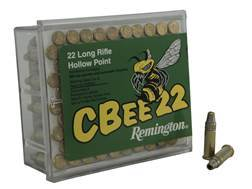 Remington CBee Ammunition 22 Long Rifle 33 Grain Hollow Point Subsonic Box of 100