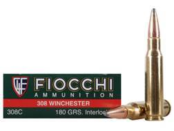 Fiocchi Shooting Dynamics Ammunition 308 Winchester 180 Grain Pointed Soft Point Box of 20