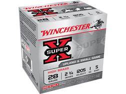 "Winchester Super-X High Brass Ammunition 28 Gauge 2-3/4"" 1 oz #5 Shot Case of 250 (10 Boxes of 25)"