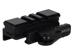 American Defense AD-170-VPG Riser with 3-Lug Rail and Quick-Release Picatinny-Style Mount Aluminum Matte
