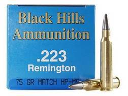 Black Hills Remanufactured Ammunition 223 Remington 75 Grain Match Hollow Point Box of 50