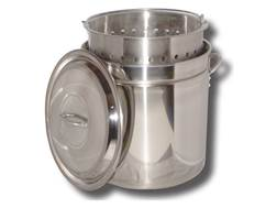 King Kooker 24 Qt Stainless Steel Boiling and Steaming Combo