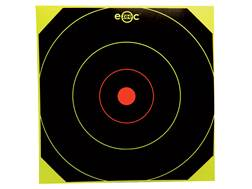 "E-ZEE-C Self-Adhesive 10"" Black/Yellow Bullseye Target Package of 40"