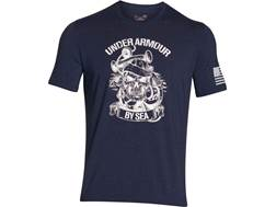 Under Armour Men's UA Freedom by Sea T-Shirt Short Sleeve Cotton and Polyester Blackout Navy XL