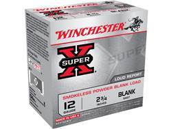"Winchester Field Trial Popper Load Ammunition 12 Gauge 2-3/4"" Smokeless Blank Box of 25"