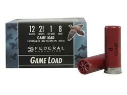 """Federal Game-Shok Game Load Ammunition 12 Gauge 2-3/4"""" 1 oz #8 Shot Box of 25"""