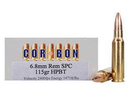 Cor-Bon Performance Match Ammunition 6.8mm Remington SPC 115 Grain Hollow Point Boat Tail Box of 20