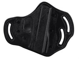 DeSantis Intimidator Belt Holster Right Hand Glock 17, 19, 22, 23 Kydex and Leather Black