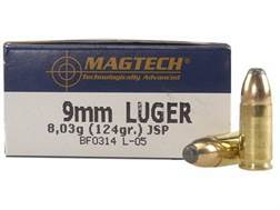 Magtech Sport Ammunition 9mm Luger 124 Grain Jacketed Soft Point