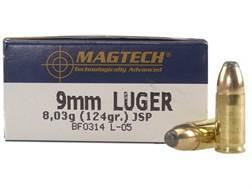 Magtech Sport Ammunition 9mm Luger 124 Grain Jacketed Soft Point