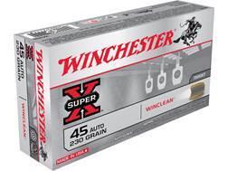 Winchester USA WinClean Ammunition 45 ACP 230 Grain Brass Enclosed Base