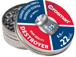 Crosman Destroyer Airgun Pellets 22 Caliber 14.3 Grain Pointed with Dished Rim Tin of 175