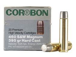 Cor-Bon Hunter Ammunition 460 S&W Magnum 395 Grain Hard Cast Lead Flat Nose Box of 20