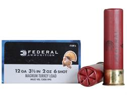 "Federal Strut-Shok Turkey Ammunition 12 Gauge 3-1/2"" 2 oz Buffered #6 Shot Box of 10"