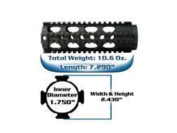 Yankee Hill Machine Free Float Tube Handguard Lightweight Quad Rail AR-15 Carbine Length Aluminum Matte