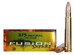 Federal Fusion Safari Ammunition 375 H&H Magnum 300 Grain Spitzer Boat Tail Box of 20