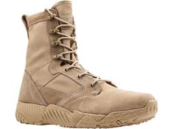 "Under Armour UA Jungle Rat 8"" Uninsulated Tactical Boots Leather and Nylon Desert Sand Men's"