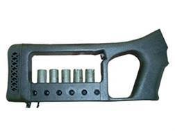 Choate Mark 6 Pistol Grip Buttstock with Integral Shotshell Ammunition Carrier Remington 870 Synthetic Black
