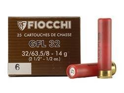 "Fiocchi Field Load Ammunition 32 Gauge 2-1/2"" 1/2 oz #6 Shot Box of 25"