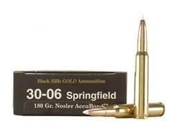 Black Hills Gold Ammunition 30-06 Springfield 180 Grain Nosler AccuBond Box of 20