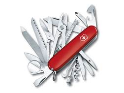 Victorinox Swiss Army SwissChamp Folding Pocket Knife 33 Function Stainless Steel Blade Polymer Handle Red