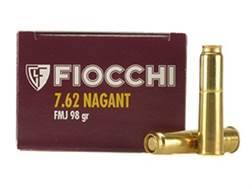 Fiocchi Ammunition 7.62mm Russian Nagant (7.62x38mmR) 98 Grain Full Metal Jacket Box of 50