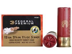 "Federal Premium Mag-Shok Turkey Ammunition 12 Gauge 2-3/4"" 1-1/2 oz #5 Copper Plated Shot High Velocity Box of 10"