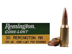 Remington Express Ammunition 30 Remington AR 150 Grain Core-Lokt Pointed Soft Point Box of 20