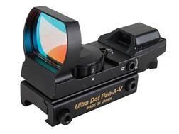 UltraDot Pan-A-V Reflex Red Dot Sight 1x 33mm 4 Reticle with Integral Weaver-Style Base Matte