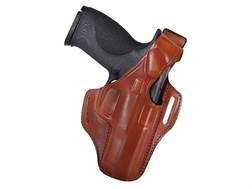 Bianchi 56 Serpent Outside the Waistband Holster Right Hand S&W M&P 9mm, 40 Leather Tan