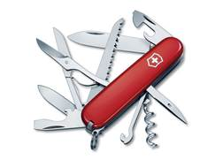 Victorinox Swiss Army Huntsman Folding Hunting Knife 15 Function Stainless Steel Blade Polymer Handle Red