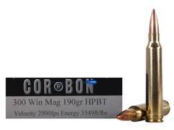 Cor-Bon Performance Match Ammunition 300 Winchester Magnum 190 Grain Hollow Point Boat Tail Box of 20