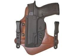 Comp-Tac Minotaur MTAC Neutral Cant Inside the Waistband Holster Left Hand Glock 26, 27, 28, 33 Kydex and Leather Chestnut