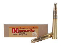 Hornady Dangerous Game Ammunition 375 H&H Magnum 300 Grain DGS Round Nose Solid Box of 20