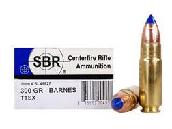 SBR Ammunition 458 SOCOM 300 Grain Barnes Tipped Triple-Shock X Bullet Lead-Free Box of 20