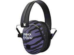 Pro Ears Pro 200 Electronic Earmuffs (NRR 19 dB) Purple Zebra