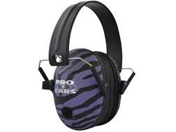 Pro Ears Pro 200 Electronic Earmuffs (NRR 19 dB) Purple Zebra