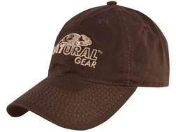 Natural Gear Waxed Cotton Logo Cap Brown